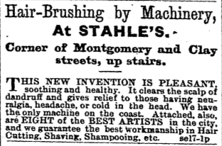 Hair-Brushing by Machinery.