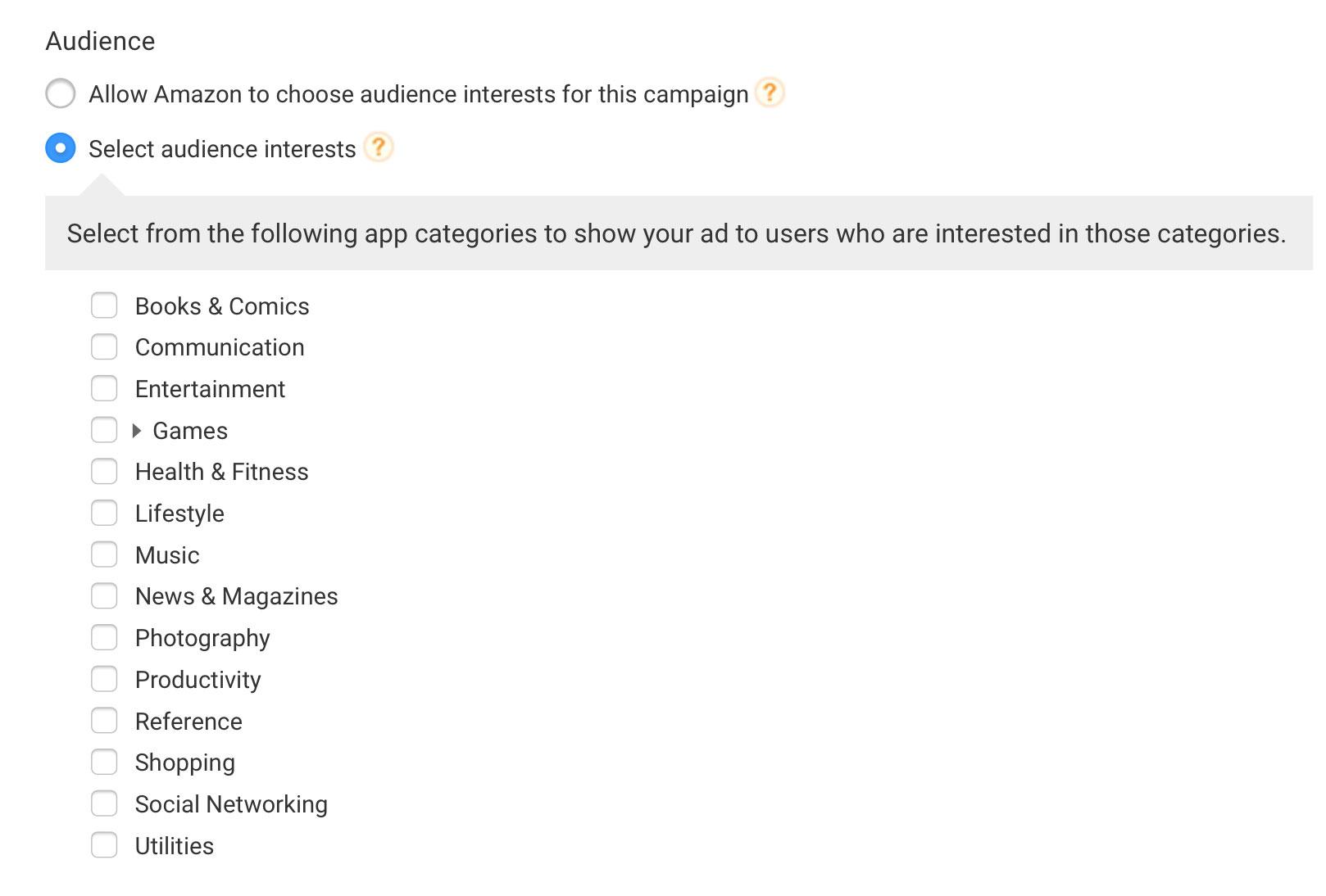 AYA Audience Interests